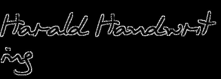 Harald Handwriting