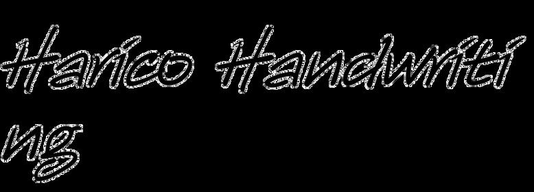 Harico Handwriting