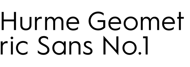 Hurme Geometric Sans No.1