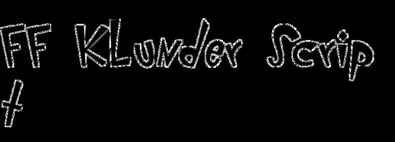 FF Klunder Script