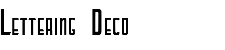 Lettering Deco