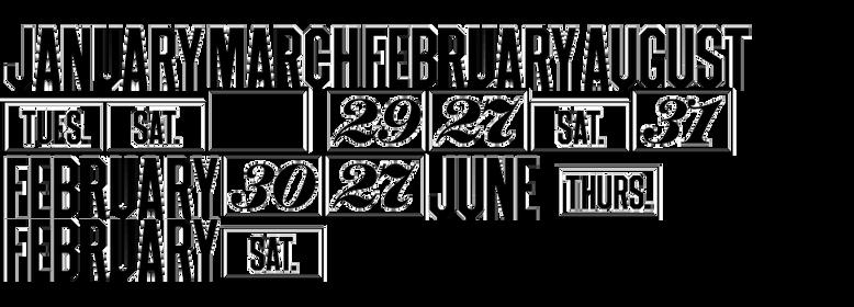 Monthly Calendar JNL