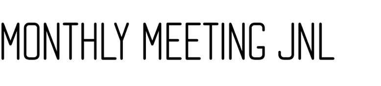 Monthly Meeting JNL