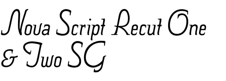 Nova Script Recut One & Two SG