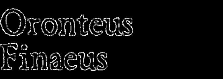 Oronteus Finaeus