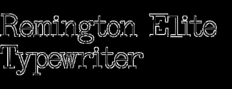 Remington Elite Typewriter