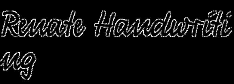 Renate Handwriting