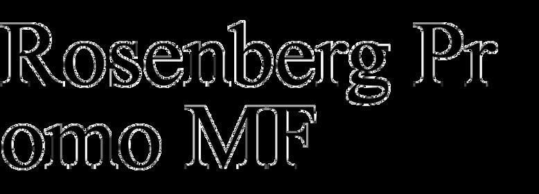Rosenberg Promo MF