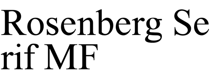 Rosenberg Serif MF