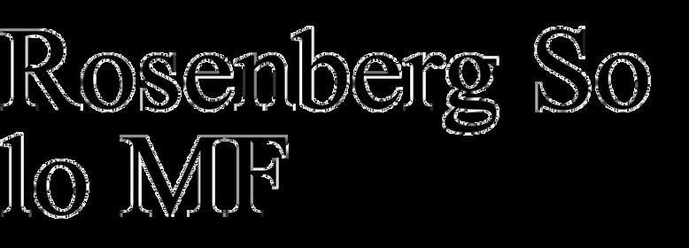 Rosenberg Solo MF