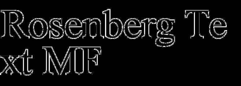 Rosenberg Text MF