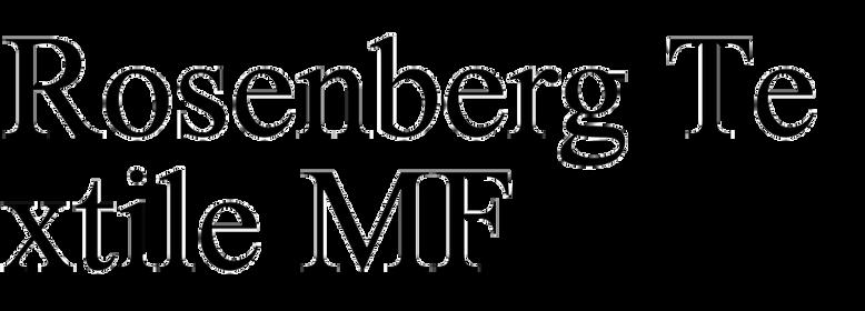 Rosenberg Textile MF