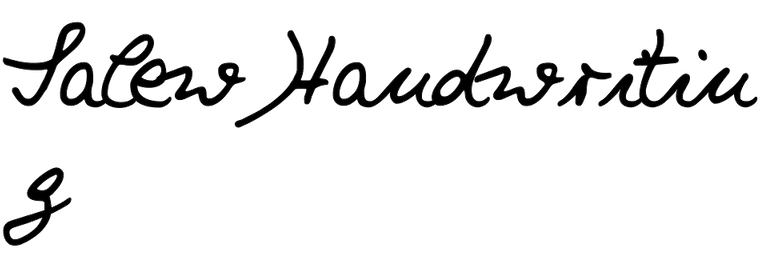 Salew Handwriting