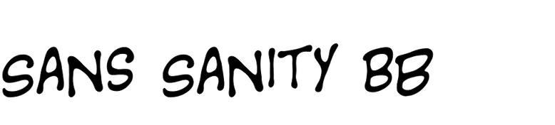 Sans Sanity BB