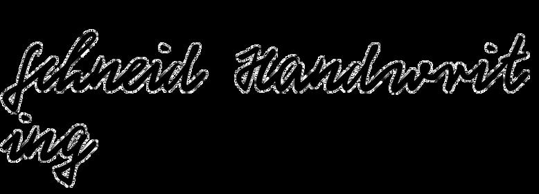 Schneid Handwriting