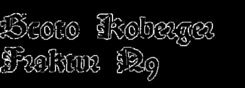 Scoto Koberger Fraktur N9