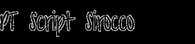 PT Script Sirocco