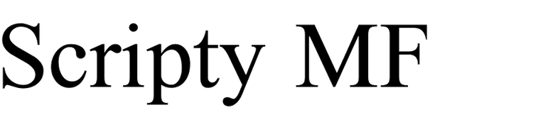 Scripty MF