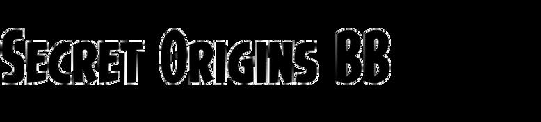 Secret Origins BB