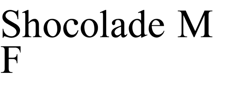 Shocolade MF
