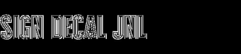 Sign Decal JNL