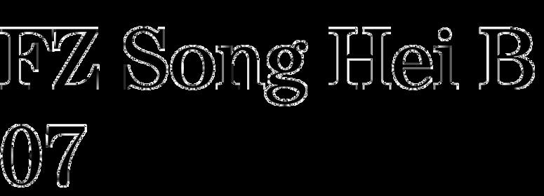 FZ Song Hei B07