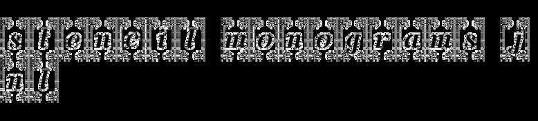 Stencil Monograms JNL