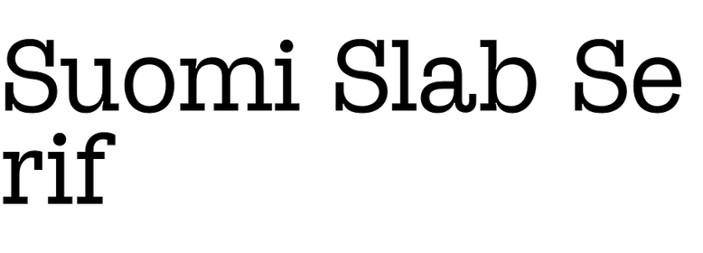 Suomi Slab Serif