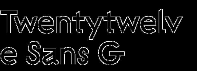 Twentytwelve Sans G
