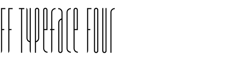 FF Typeface Four