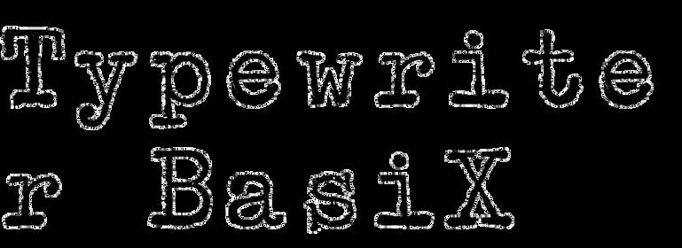 Typewriter BasiX