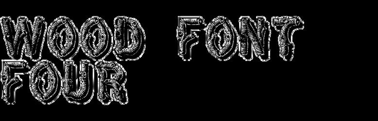Wood Font Four