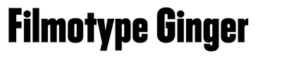 Filmotype Ginger