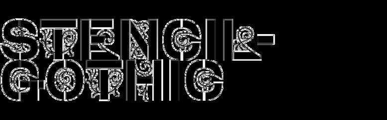 Stencil-Gothic