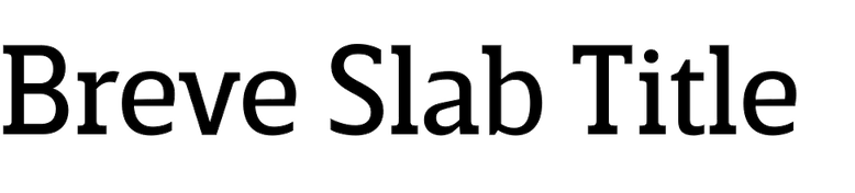 Breve Slab Title