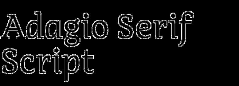 Adagio Serif Script