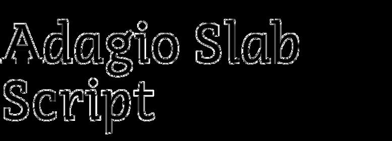 Adagio Slab Script