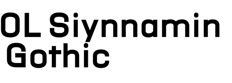 OL Siynnamin Gothic