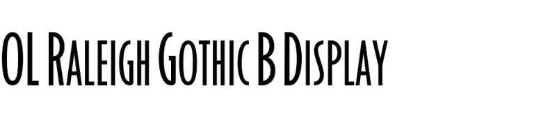 OL Raleigh Gothic B Display