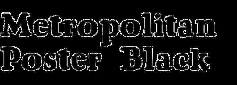 Metropolitan Poster Black