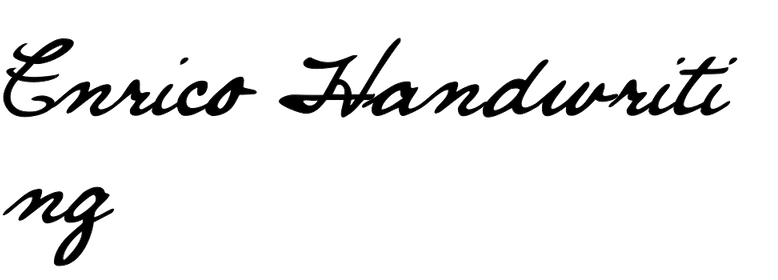 Enrico Handwriting