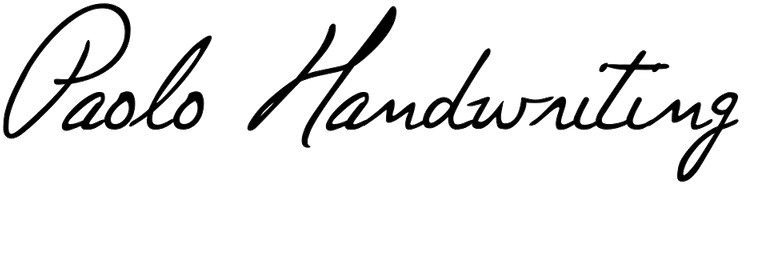 Paolo Handwriting
