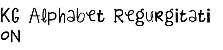 KG Alphabet Regurgitation