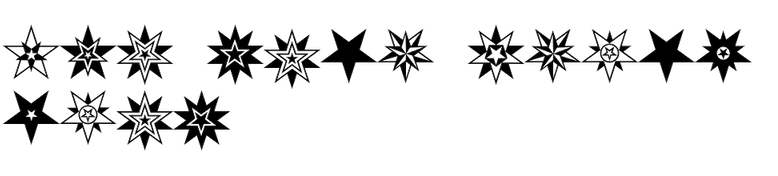 HWT Star Ornaments