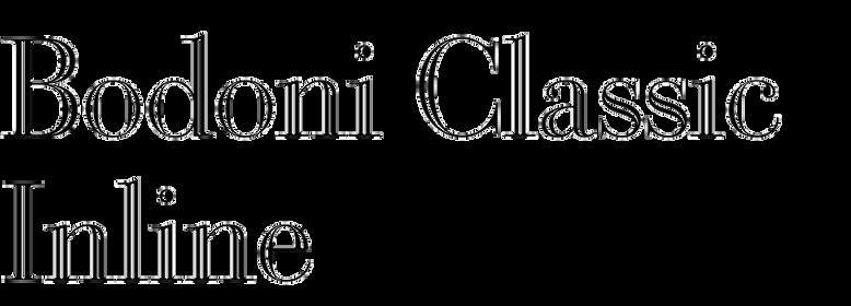 Bodoni Classic Inline