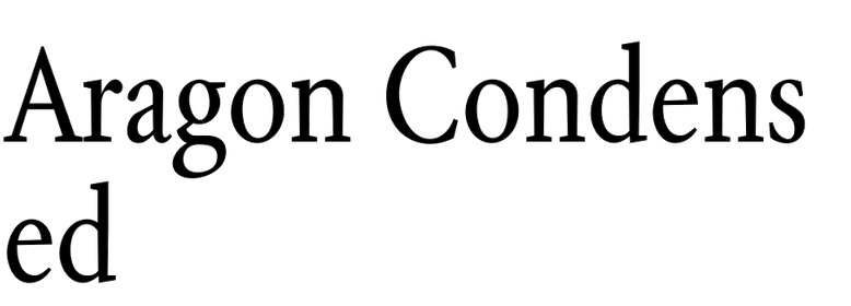 Aragon Condensed