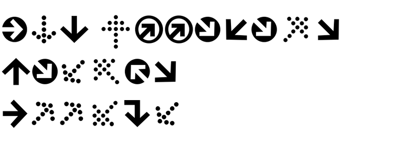 ITC Officina Display Arrows
