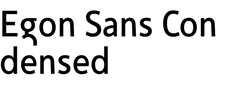 Egon Sans Condensed