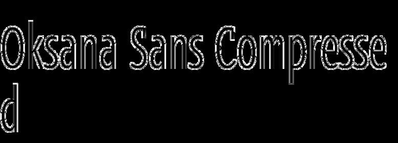 Oksana Sans Compressed
