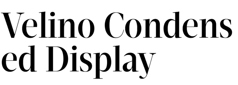 Velino Condensed Display